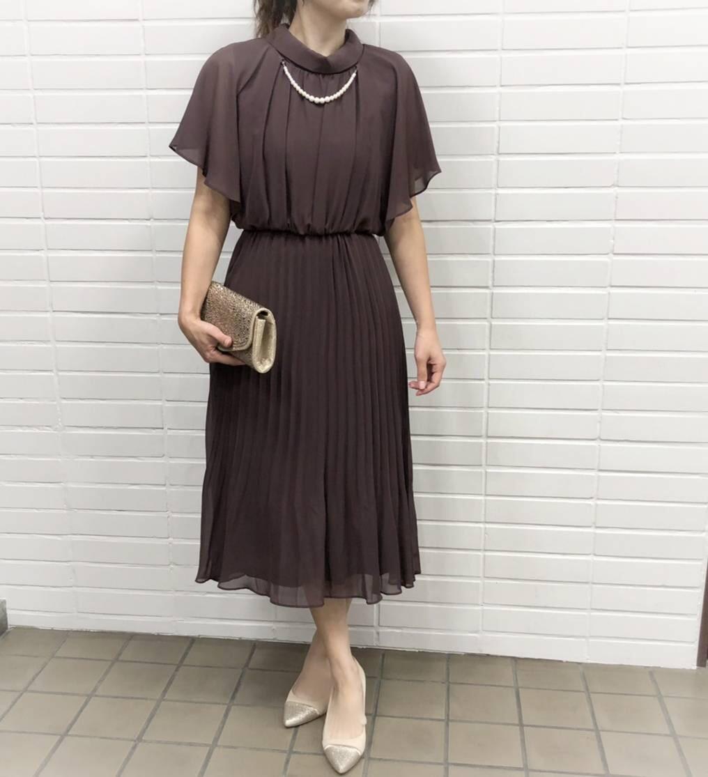ブラウン ドレス