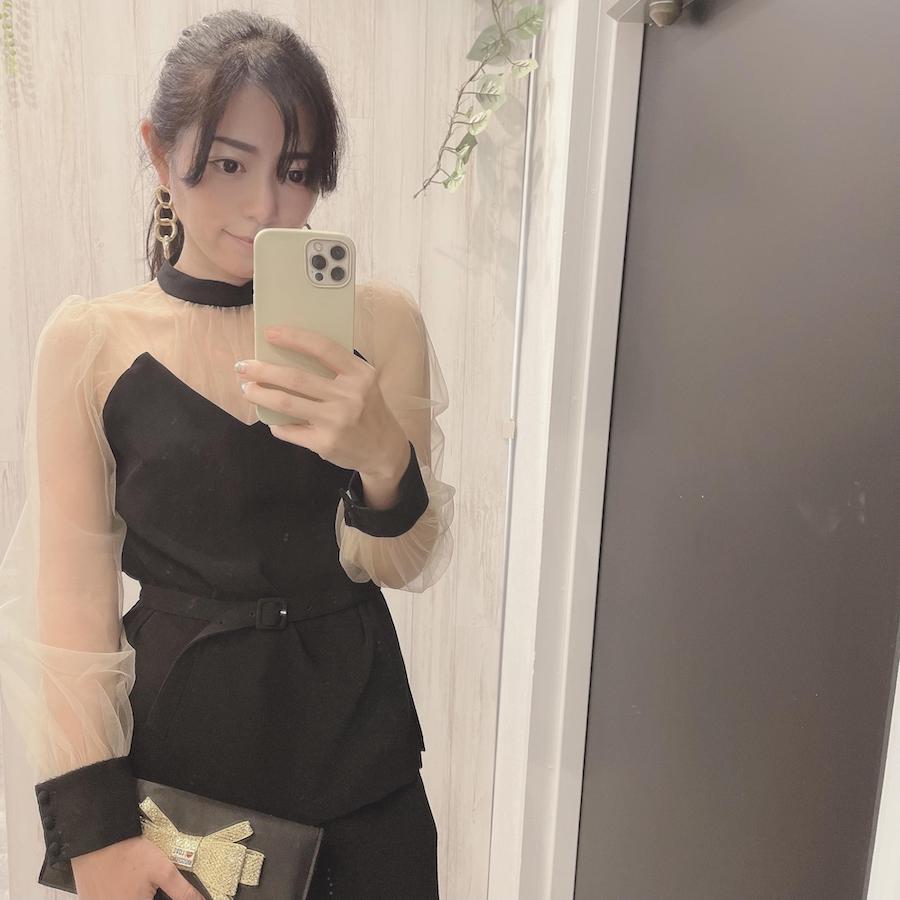 Ameri Vintageのブラックパンツドレス